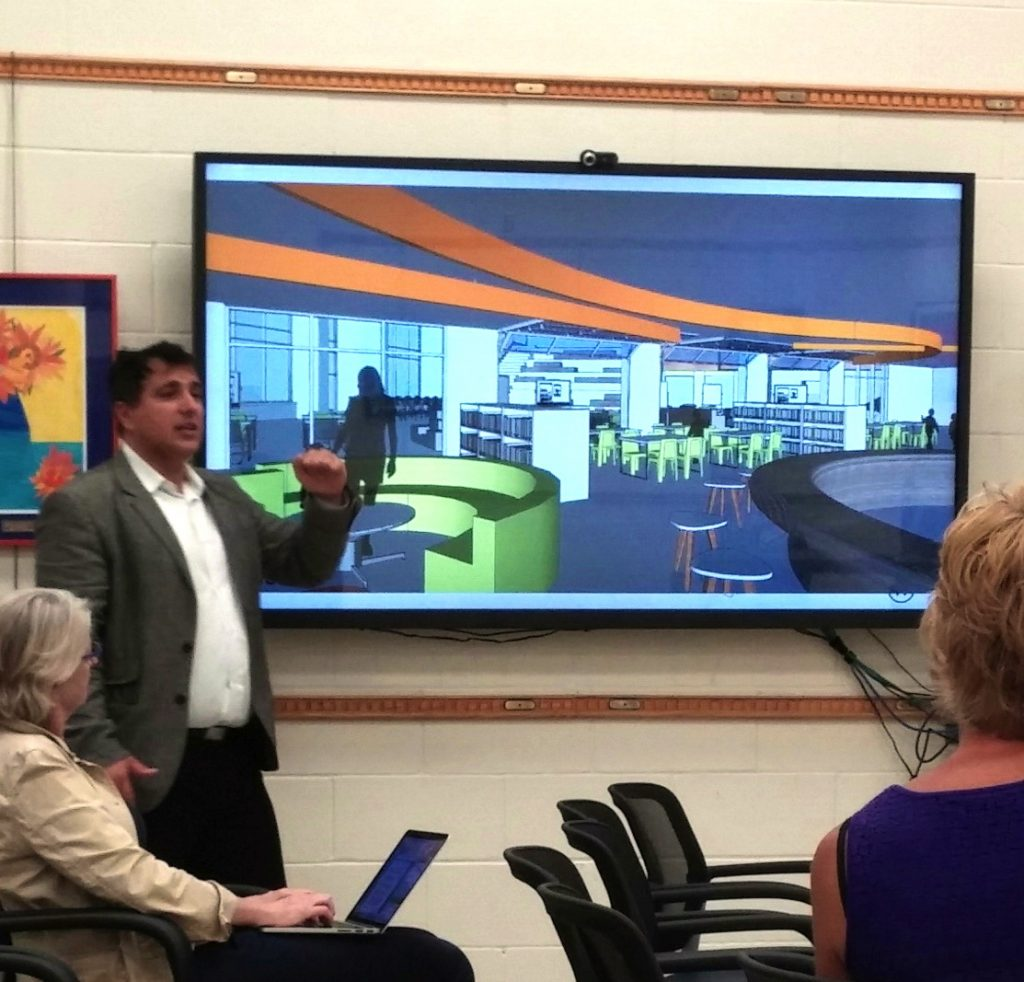 Architect Michael Bongiorno shares a vision for spaces with the Bexley Board of Education
