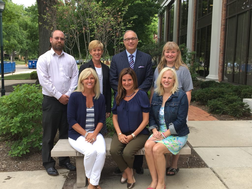 New Board of Governors members for 2016-2017: Standing: Jon Ross, Michelle Hall, Michael Agriesti, Amy Winans Brown. Seated: Amy Wagenbrenner, Katie Kaufman, Kathleen Russo