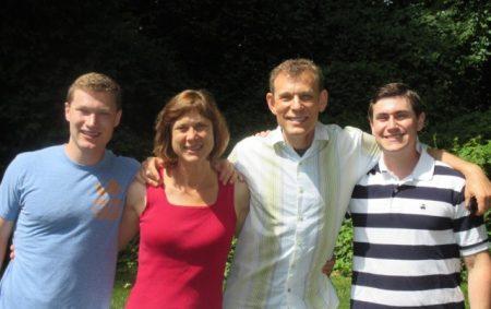 The Darwins: Ross, Bev, Bob, Evan (photo courtesy of Beverly Darwin)